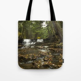 Peaceful Waterfalls Landscape Tote Bag