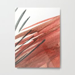 Sinatra: a minimal watercolor abstract piece in pinks, midnight blue, and white Metal Print