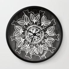 Vegan Mandela drawing Wall Clock