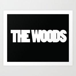 The Woods logo white Art Print