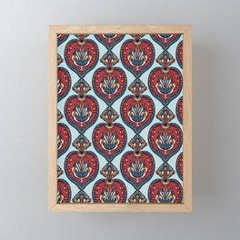 Boho flower mandala vector all over print. Framed Mini Art Print