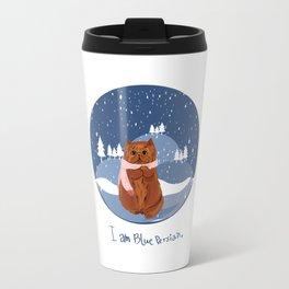 I am blue Persian. Travel Mug
