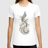 peacock feather T-shirts featuring Peacock by Tracie Andrews