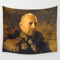 replaceface Wall Tapestries featuring Bruce Willis - replaceface by replaceface