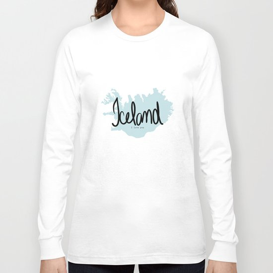 Iceland love Long Sleeve T-shirt