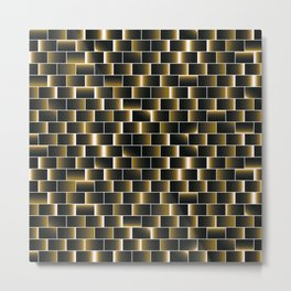 Golden set of tiles Metal Print