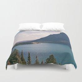 Sun Point, Glacier National Park, 35mm Duvet Cover