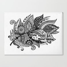 Zentangle Feather Canvas Print