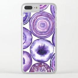 Purple agate pattern Clear iPhone Case