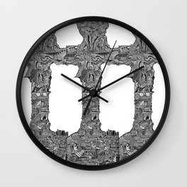 Cros Araild by Celteca Wall Clock