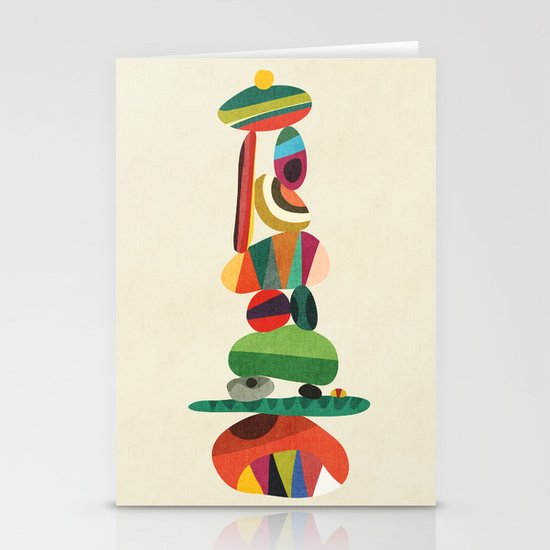 Totem - balanced pebbles Stationery Cards
