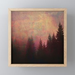 Repose, Abstract Landscape Trees Sky Framed Mini Art Print