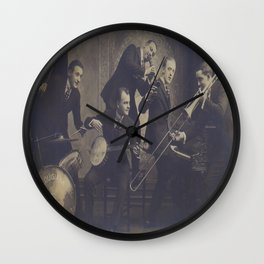 Vintage Photograph- New Orleans Jazz Wall Clock