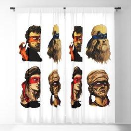 Renaissance Mutant Ninja squad Blackout Curtain