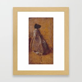John Constable 1776–1837   Study of a Girl in a Cloak and Bonnet Framed Art Print
