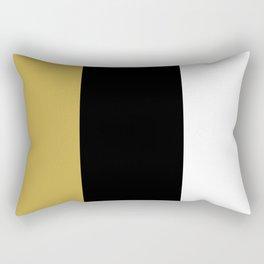 TEAM COLORS 8....BLACK, WHITE AN GOLD Rectangular Pillow