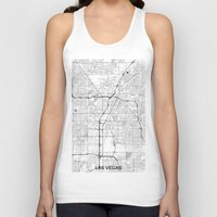 las vegas Tank Tops featuring Las Vegas Map Gray by City Art Posters