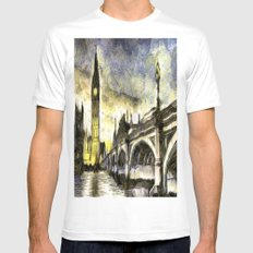 Westminster Van gogh White Mens Fitted Tee MEDIUM