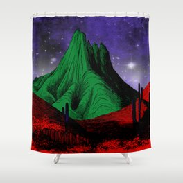 Painting in the Dark Shower Curtain