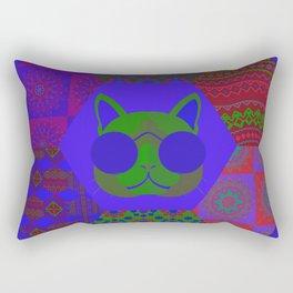 Cat in sunglasses - patchwork7 Rectangular Pillow