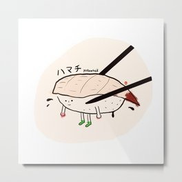 Yellowtail sushi Metal Print