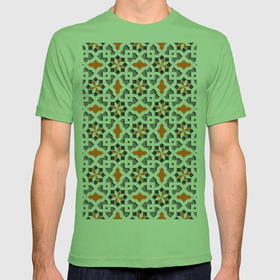 a9937e28c244 black, white, grey, orange - Oriental design - orient pattern - arabic style  geometric mosaic T-shirt by ohaniki | Society6