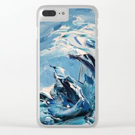 Rough Sea Wave Clear iPhone Case