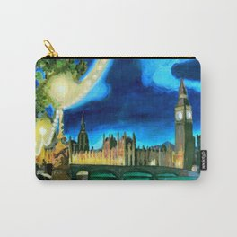 Houses of Parliament and Big Ben at Night Carry-All Pouch