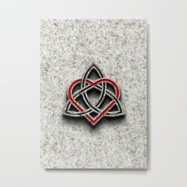 Celtic Knotwork Valentine Heart Bone Texture 1 Metal Print