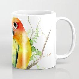 Sun Conure Parakeet, tropical colors parrot art design Coffee Mug
