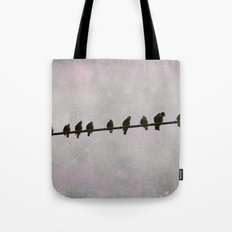 9 Birds on a Wire Tote Bag