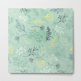 Flowers and Herbs Metal Print