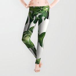 Tropical Monstera  Leggings