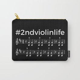 #2ndviolinlife (dark colors) Carry-All Pouch