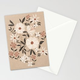 Earthy Cottage Collage Floral - in shell Stationery Cards