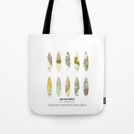 Geography of surfing Tote Bag