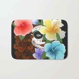 Day of the Hibiscus Bath Mat