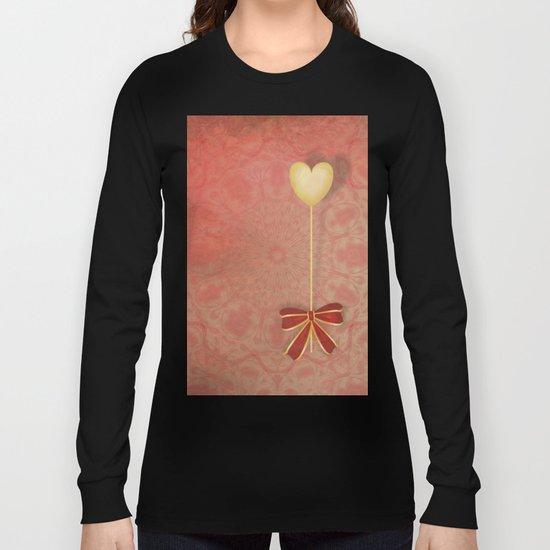 beautiful heart on texture kaleidoscope Long Sleeve T-shirt