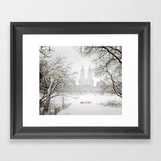Winter - Central Park - New York City Framed Art Print