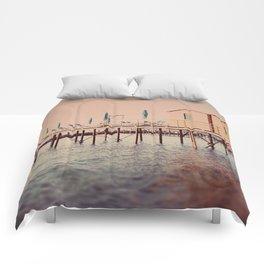 Sorrento pier Comforters