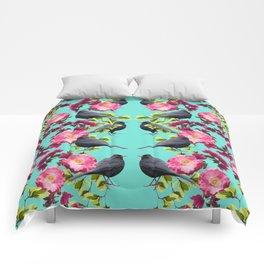 Symmetrical Bird Print Comforters