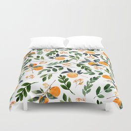 Orange Grove Duvet Cover
