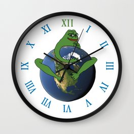 PepeTheFrog #DrainTheSwamp Octopus Earth Wall Clock