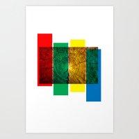 reggae Art Prints featuring Reggae by Ev@d Art$