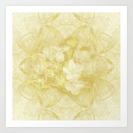 Secret garden in gold Art Print