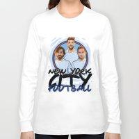 pirlo Long Sleeve T-shirts featuring I Love NY City by Akyanyme