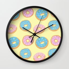 Doughnut Pattern Wall Clock