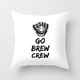 Go Brew Crew Throw Pillow