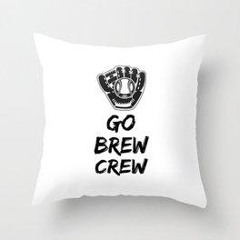 Go Brew Crew Throw Pillow