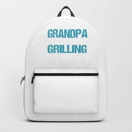 Grill Master Grandpa Chef Grandfather BBQ Party Grilling Granddad Gift Backpack